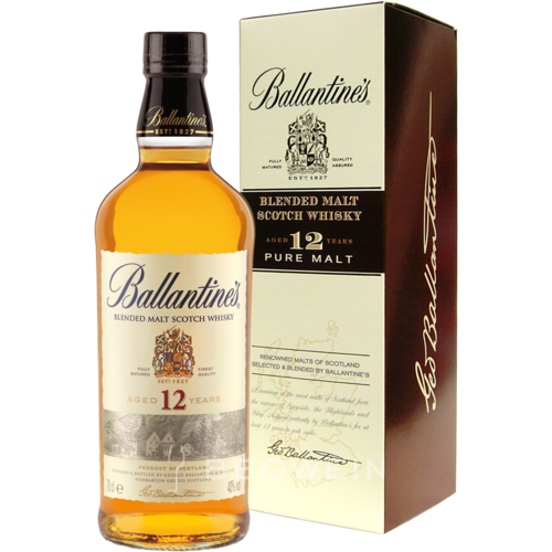 Ballantines blended malt Scotch whisky 12
