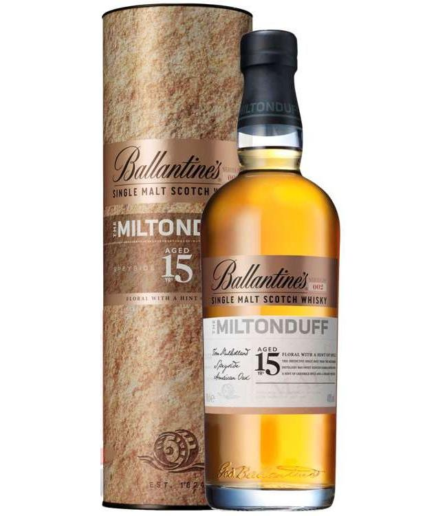 Ballantine's the miltonduff 15 years old
