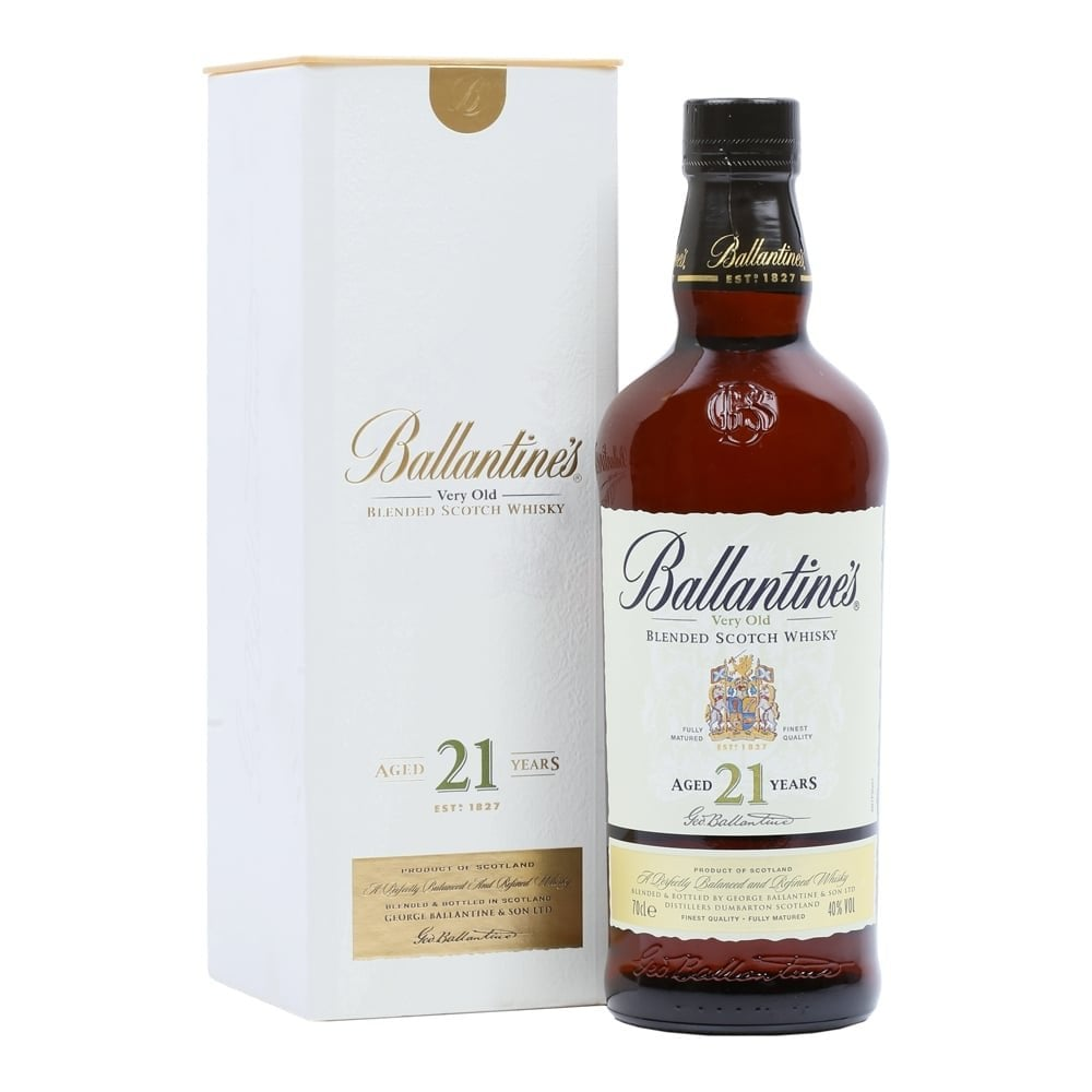 Ballantines very old blended Scotch whisky 21