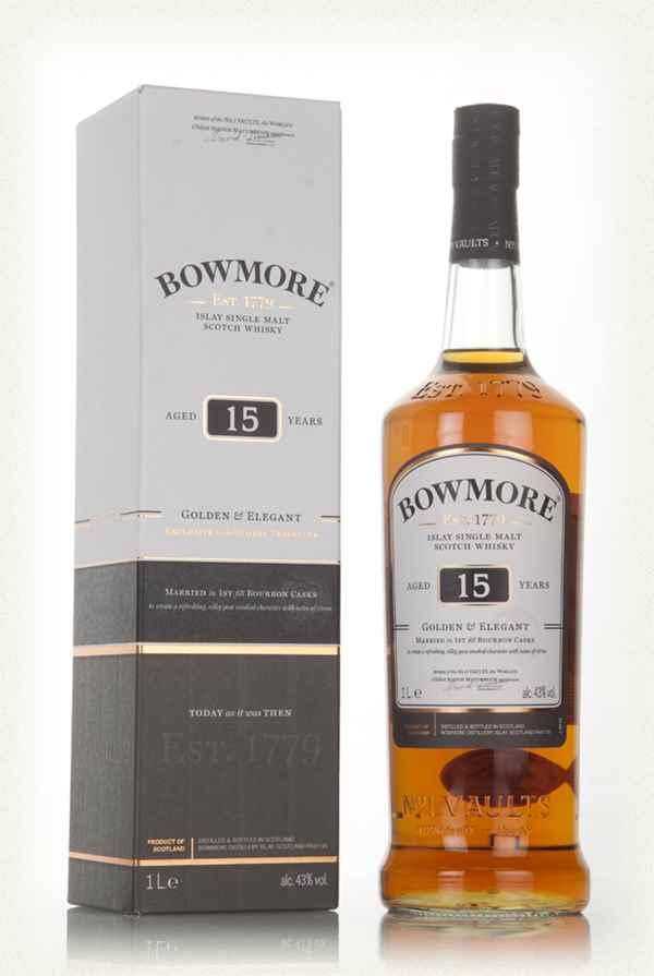 Bowmore 15 golden & elegant