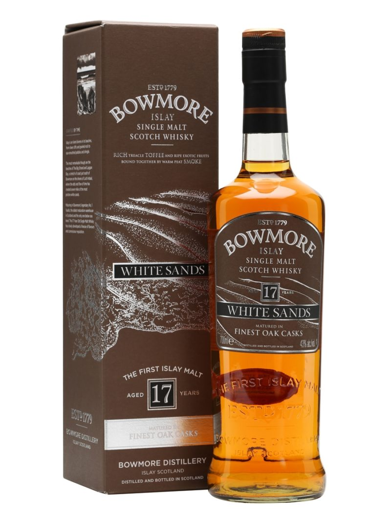 Bowmore 17 white sands matured in finest oak casks