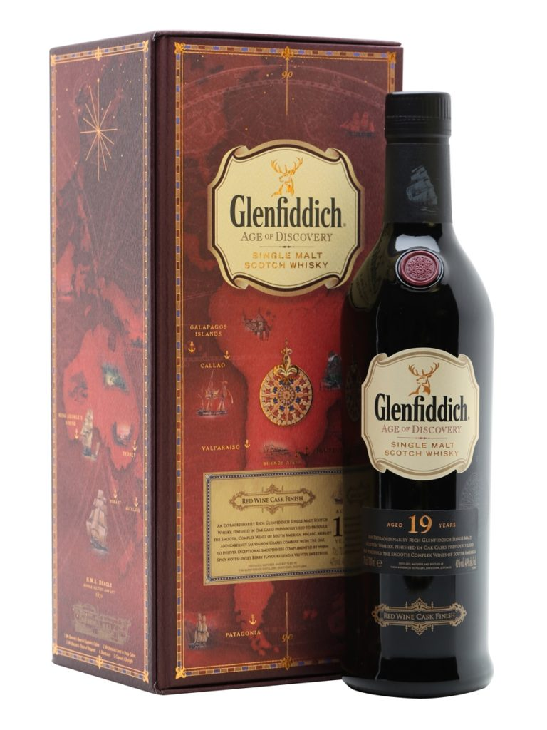 Glenfiddich 19 year old age of discovery red wine