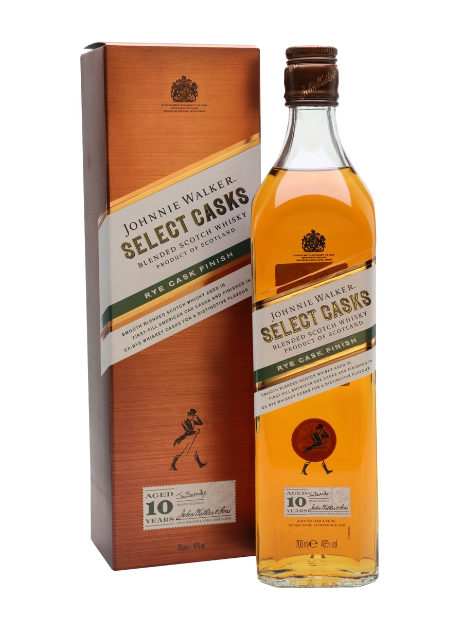 Johnnie Walker selects casks rye cask finish