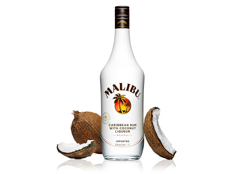 Malibu Carribean rum with coconut liquer