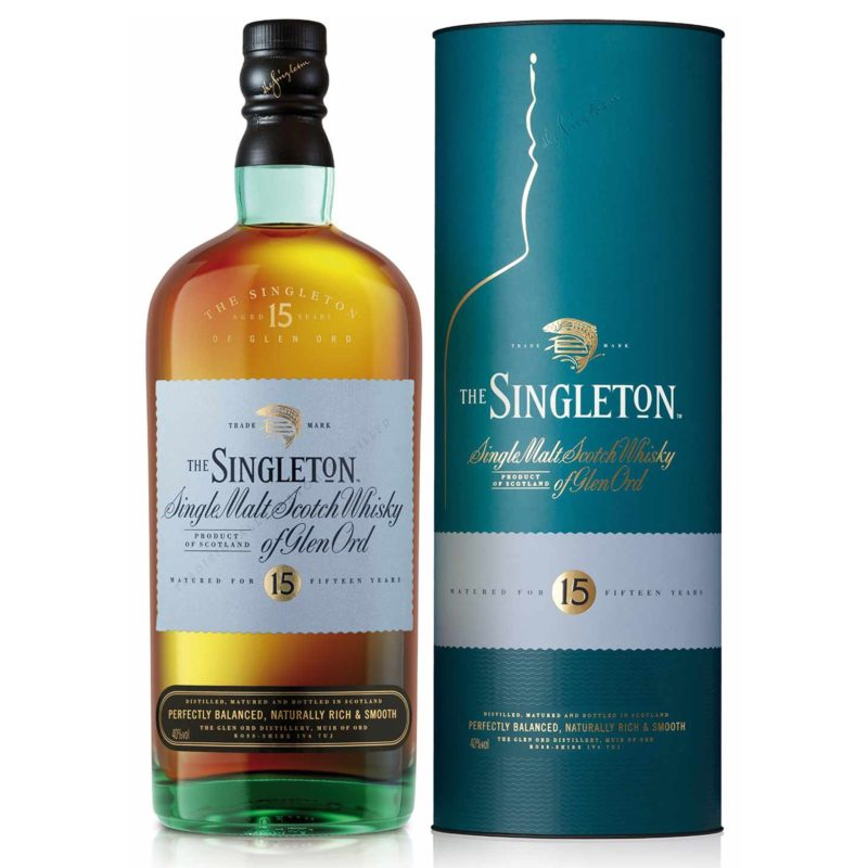 The singleton 15 single malt Scotch whisky of Glen Ord