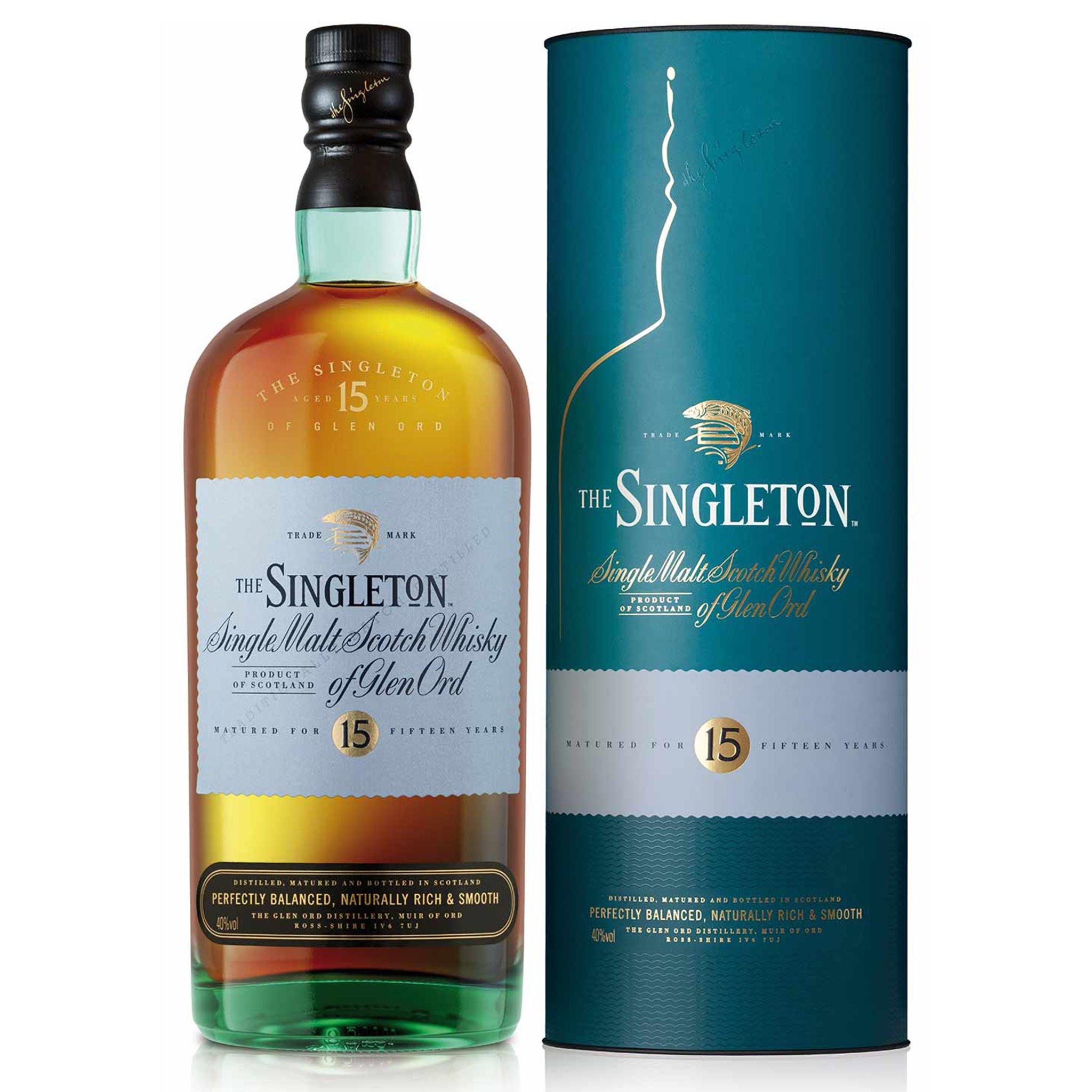 The singleton 15 single malt Scotch whisky of Glen Ord