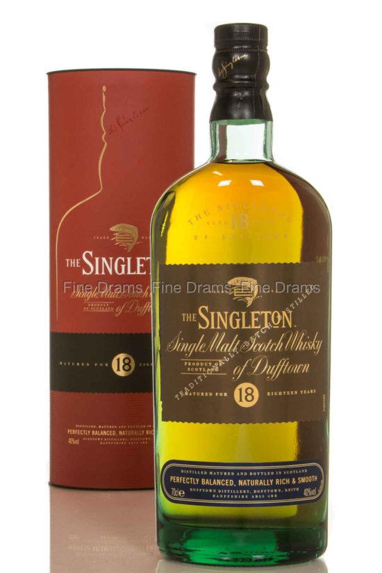 The singleton 18 single malt Scotch whisky of Dufftown