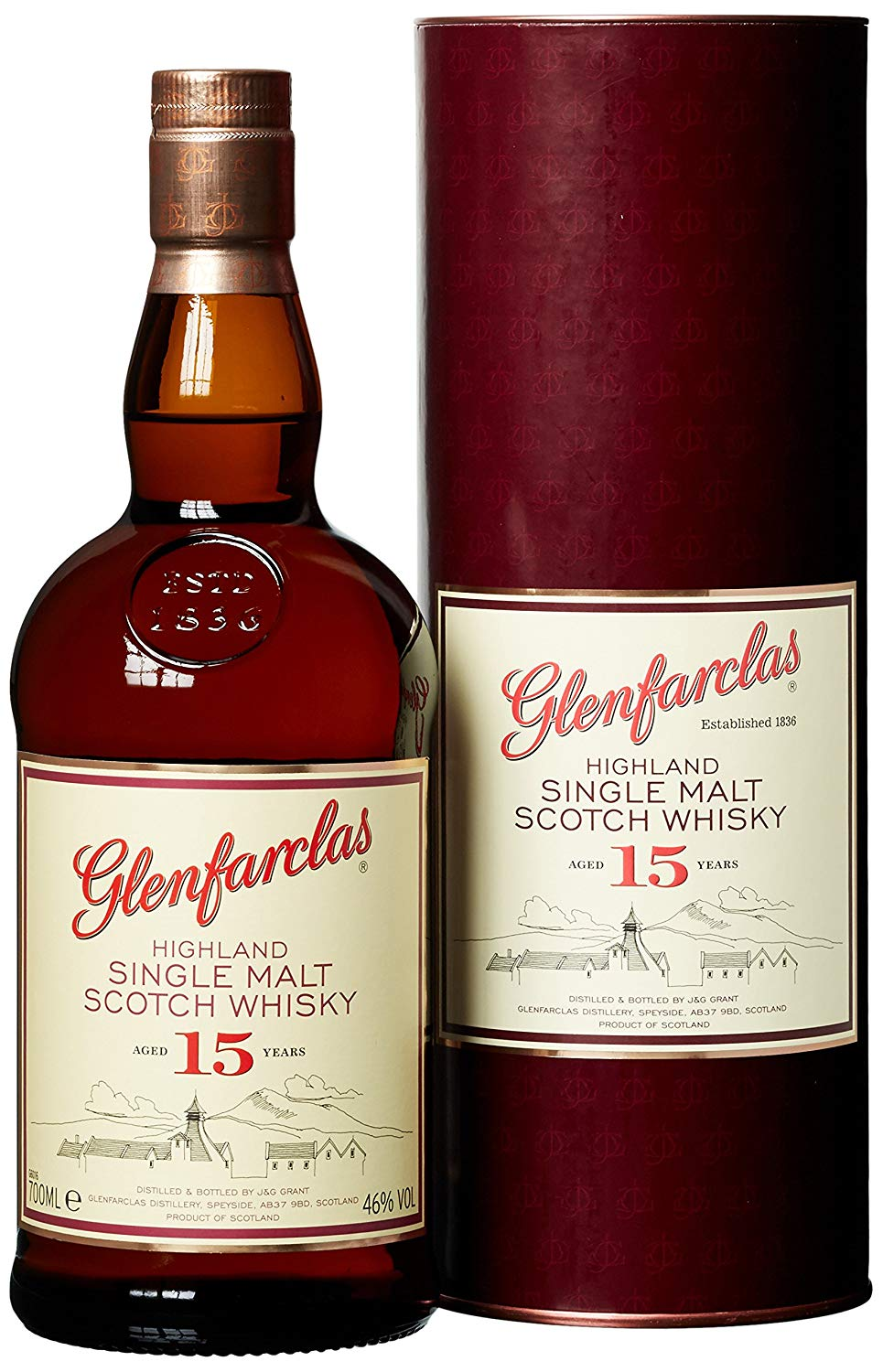 Glenfarclas Highland single malt Scotch whisky 15