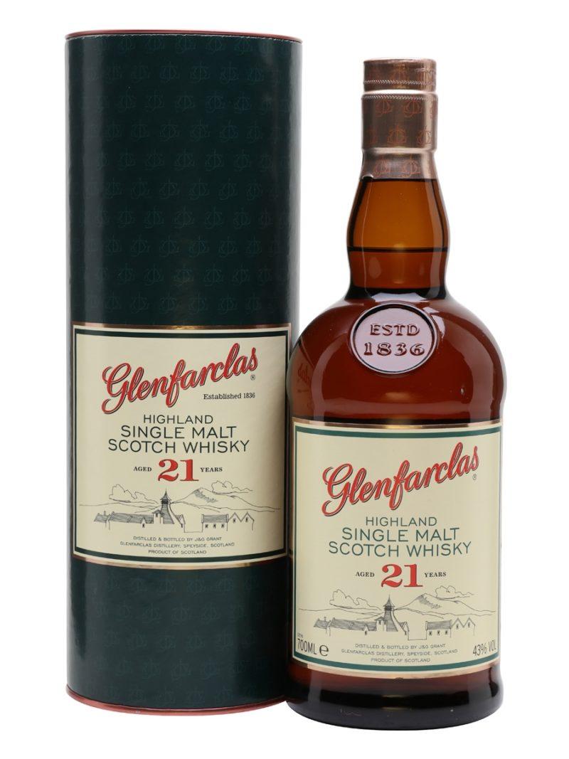 Glenfarclas Highland single malt Scotch whisky 21