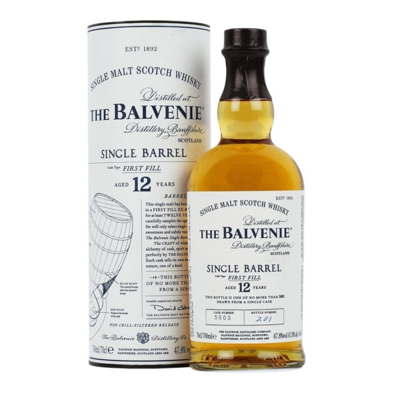 The Balvenie single barrel first fill 12