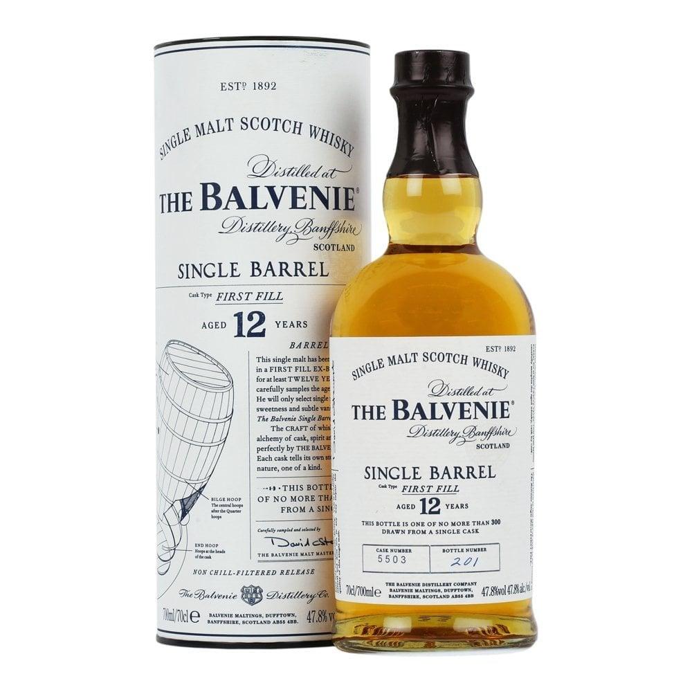 The Balvenie single barrel first fill 12