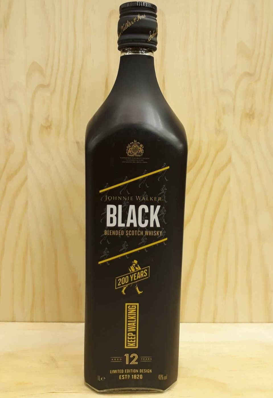 Johnnie Walker Black 12 Years Old Keep Walking 200 Years Limited Edition Design