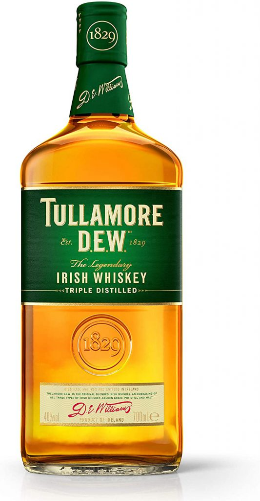 Tullamore D.E.W. Irish whiskey Triple Distilled