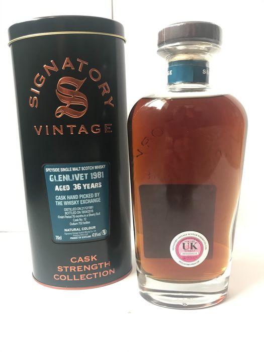 Signatory Vintage Glenlivet 1981 Aged 36 Years